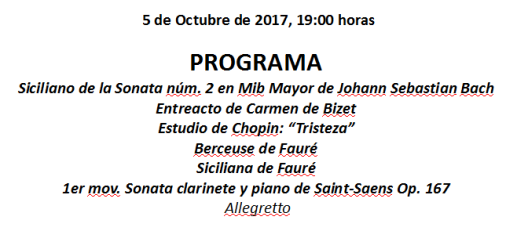 Programa del 5-10-17