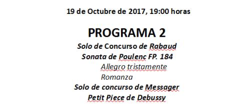 Programa del 19-10-17