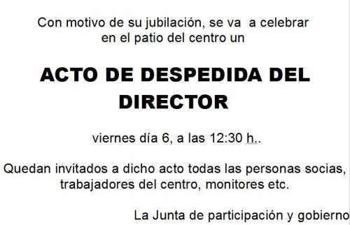 Despedida del director